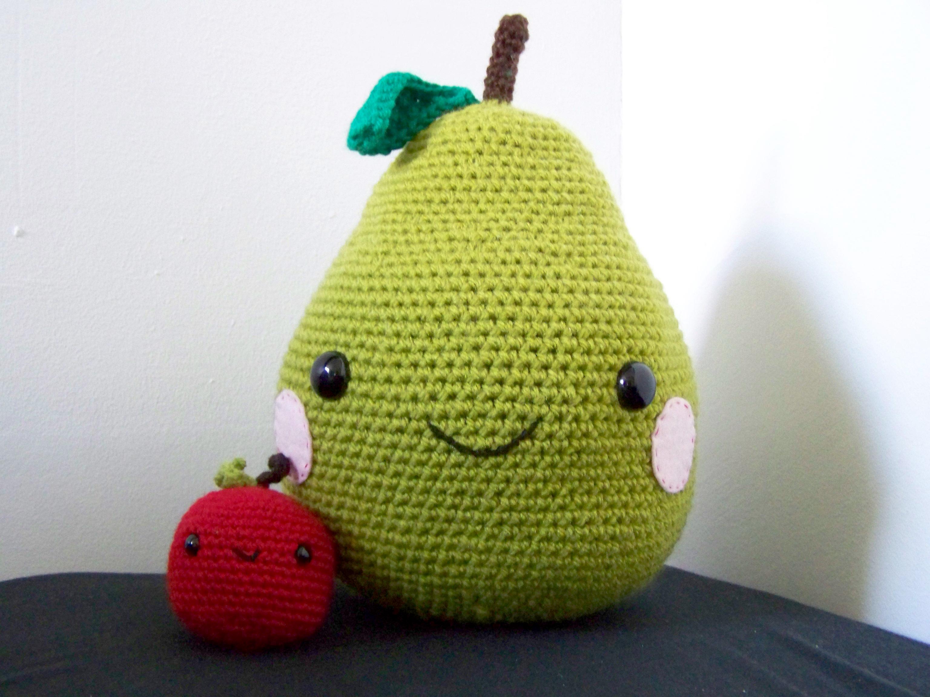 Large Amigurumi Pear